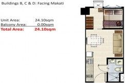 1 Bedroom unit for lease in Shore Residences, Moa, Pasay City